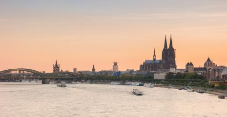 Cologne Skyline at nighttime- Stock Photo or Stock Video of rcfotostock | RC-Photo-Stock