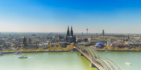 Cologne Skyline at spring- Stock Photo or Stock Video of rcfotostock | RC-Photo-Stock