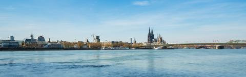 cologne skyline at srping : Stock Photo or Stock Video Download rcfotostock photos, images and assets rcfotostock | RC-Photo-Stock.: