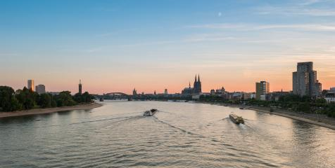 Cologne Skyline at sunset- Stock Photo or Stock Video of rcfotostock | RC-Photo-Stock