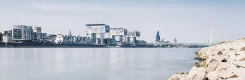 Cologne Skyline at the rhine- Stock Photo or Stock Video of rcfotostock | RC-Photo-Stock