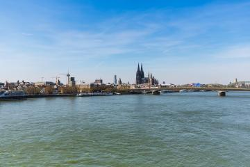 cologne skyline at the rhine river- Stock Photo or Stock Video of rcfotostock | RC-Photo-Stock