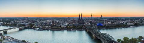 cologne skyline panorama at dusk- Stock Photo or Stock Video of rcfotostock | RC-Photo-Stock