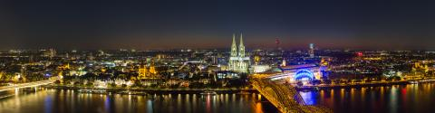 cologne skyline panorama at night- Stock Photo or Stock Video of rcfotostock | RC-Photo-Stock