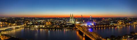 cologne skyline panorama at sunset- Stock Photo or Stock Video of rcfotostock | RC-Photo-Stock