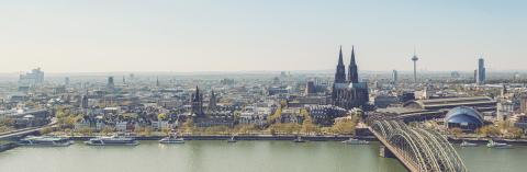 Cologne Skyline panorama with Cathedral (Dom)- Stock Photo or Stock Video of rcfotostock | RC-Photo-Stock