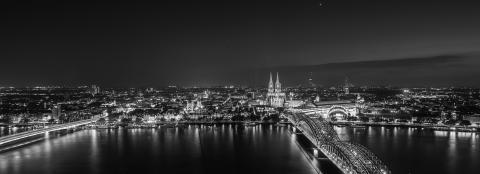 Cologne skyline view at night- Stock Photo or Stock Video of rcfotostock | RC-Photo-Stock