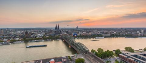 Cologne skyline view at sunset- Stock Photo or Stock Video of rcfotostock | RC-Photo-Stock