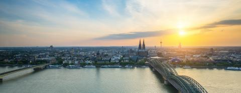 cologne sunset panorama- Stock Photo or Stock Video of rcfotostock | RC-Photo-Stock