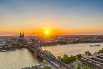 Cologne sunset Skyline- Stock Photo or Stock Video of rcfotostock | RC-Photo-Stock