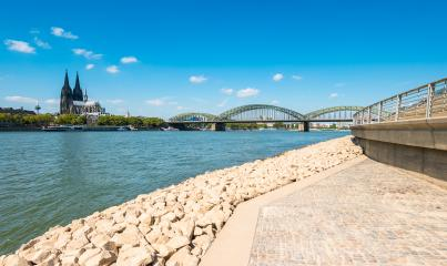 Cologne view and the deutzer rhine boulevard at summer- Stock Photo or Stock Video of rcfotostock | RC-Photo-Stock