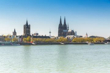 cologne with Cathedral and groos st. martin at the rhine river- Stock Photo or Stock Video of rcfotostock | RC-Photo-Stock