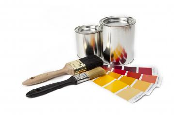 Color chart guide for renovation with paint brush and can isolat : Stock Photo or Stock Video Download rcfotostock photos, images and assets rcfotostock   RC-Photo-Stock.: