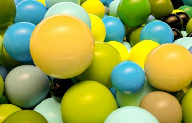colored plastic balls background - 3D Rendering- Stock Photo or Stock Video of rcfotostock | RC-Photo-Stock
