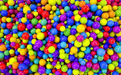 colored plastic balls background in a children's playroom - 3D Rendering- Stock Photo or Stock Video of rcfotostock | RC-Photo-Stock