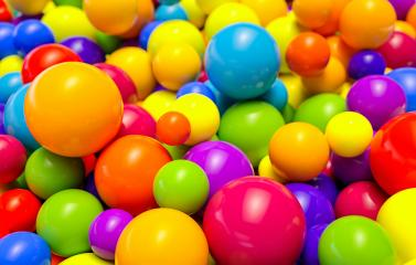 colored plastic balls in a children's playroom - 3D Rendering : Stock Photo or Stock Video Download rcfotostock photos, images and assets rcfotostock | RC-Photo-Stock.: