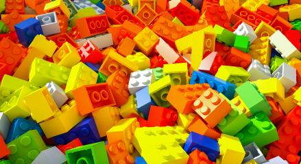 colored toy bricks - 3D Rendering Illustration- Stock Photo or Stock Video of rcfotostock | RC-Photo-Stock