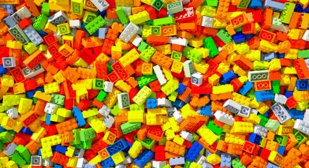 colored toy bricks background - 3D Rendering- Stock Photo or Stock Video of rcfotostock | RC-Photo-Stock