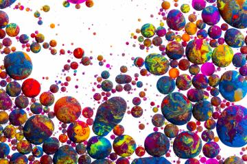 Colorful Abstract ink balls- Stock Photo or Stock Video of rcfotostock | RC-Photo-Stock