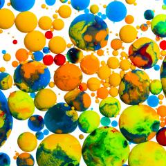 Colorful balls ink oil paint on white- Stock Photo or Stock Video of rcfotostock | RC-Photo-Stock
