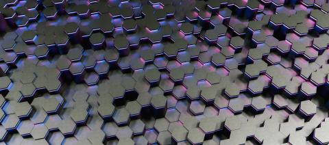 colorful bright neon uv blue and purple lights abstract hexagons background pattern - 3D rendering - Illustration - Stock Photo or Stock Video of rcfotostock | RC-Photo-Stock
