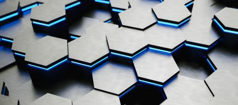 colorful bright neon uv blue lights abstract hexagons background pattern, gaming Concept image - 3D rendering - Illustration - Stock Photo or Stock Video of rcfotostock | RC-Photo-Stock