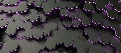 colorful bright neon uv purple lights abstract hexagons background pattern, gaming Concept image - 3D rendering - Illustration - Stock Photo or Stock Video of rcfotostock | RC-Photo-Stock