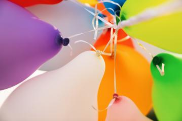 Colorful bunch of balloons - Stock Photo or Stock Video of rcfotostock   RC-Photo-Stock