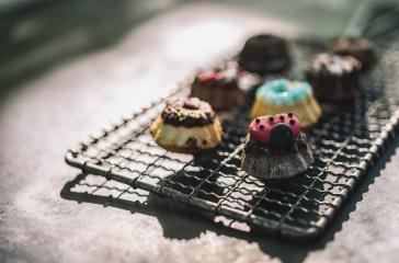 Colorful Cookie variations on a old Cooling Rack- Stock Photo or Stock Video of rcfotostock | RC-Photo-Stock