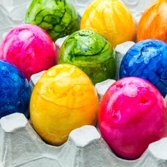 colorful easter eggs in a egg carton- Stock Photo or Stock Video of rcfotostock | RC-Photo-Stock