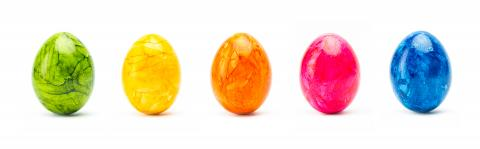 colorful easter eggs in a row : Stock Photo or Stock Video Download rcfotostock photos, images and assets rcfotostock | RC-Photo-Stock.: