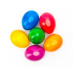colorful easter eggs on white- Stock Photo or Stock Video of rcfotostock   RC-Photo-Stock