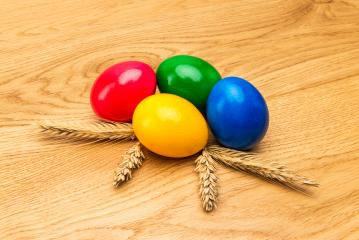 colorful easter eggs with corn ears : Stock Photo or Stock Video Download rcfotostock photos, images and assets rcfotostock   RC-Photo-Stock.: