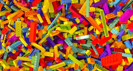 colorful falling toy bricks - concept image - 3D Rendering Illustration- Stock Photo or Stock Video of rcfotostock | RC-Photo-Stock