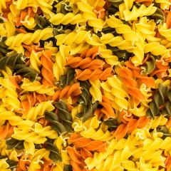 colorful fusilli pasta noodles background- Stock Photo or Stock Video of rcfotostock | RC-Photo-Stock