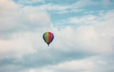 colorful Hot air balloon with cloud sky- Stock Photo or Stock Video of rcfotostock | RC-Photo-Stock
