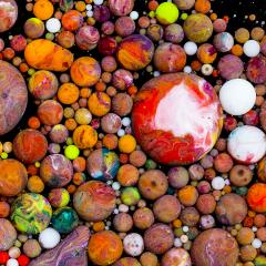 Colorful ink balls- Stock Photo or Stock Video of rcfotostock | RC-Photo-Stock