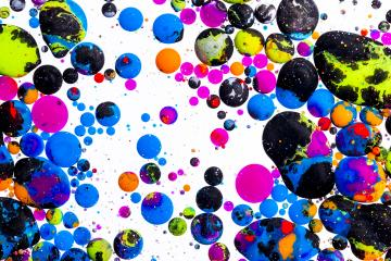 Colorful ink balls on white- Stock Photo or Stock Video of rcfotostock | RC-Photo-Stock