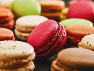 Colorful macaroons. Sweet french macarons, Holiday time concept- Stock Photo or Stock Video of rcfotostock | RC-Photo-Stock