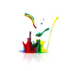 Colorful paint splash on white- Stock Photo or Stock Video of rcfotostock | RC-Photo-Stock
