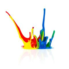 Colorful paint splashing- Stock Photo or Stock Video of rcfotostock | RC-Photo-Stock