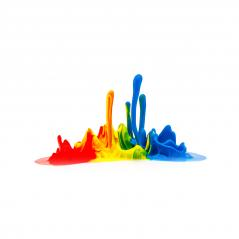Colorful paint splashing on white- Stock Photo or Stock Video of rcfotostock | RC-Photo-Stock