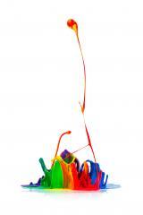 Colorful paint splashing on white- Stock Photo or Stock Video of rcfotostock | RC-Photo-Stock