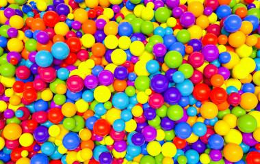 colorful plastic balls in children park background - 3D Rendering- Stock Photo or Stock Video of rcfotostock | RC-Photo-Stock