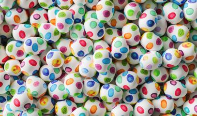 colorful traditional water paint easter eggs- Stock Photo or Stock Video of rcfotostock | RC-Photo-Stock