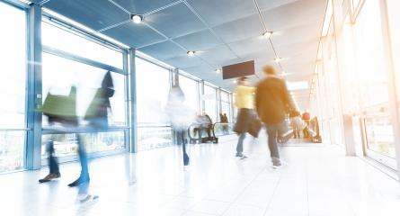 Commuter Walking on a modern corridor- Stock Photo or Stock Video of rcfotostock | RC-Photo-Stock