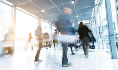 Commuters rushing at a airport- Stock Photo or Stock Video of rcfotostock | RC-Photo-Stock