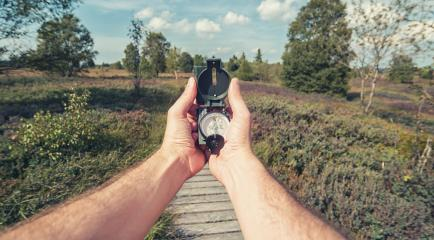 Compass in the hand on the nature background- Stock Photo or Stock Video of rcfotostock | RC-Photo-Stock