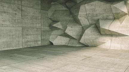 concrete cube polygonal wall room background - 3D Rendering- Stock Photo or Stock Video of rcfotostock | RC-Photo-Stock