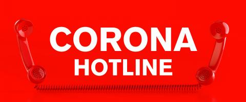 Corona virus hotline with Covid-19 virus and a red telephone- Stock Photo or Stock Video of rcfotostock | RC-Photo-Stock